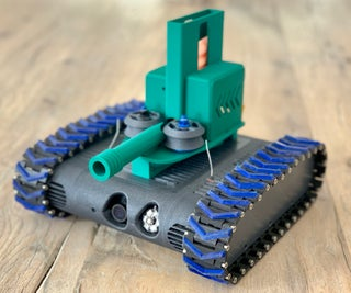 Nerf Darf Launcher for the FPV-Rover