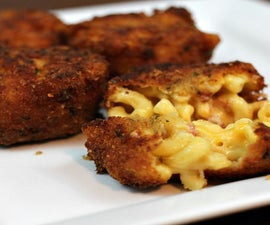 Super Cheesy Deep Fried Bacon Mac & Cheese