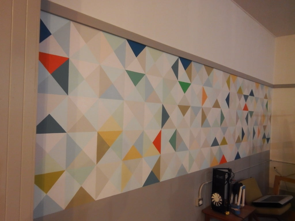 Triangle Mural Wall Design