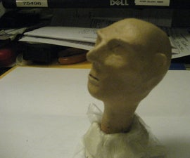 Sculpt a head...later stages have LED eye's built in