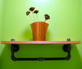 DIY decor: Steampunk bathroom shelf