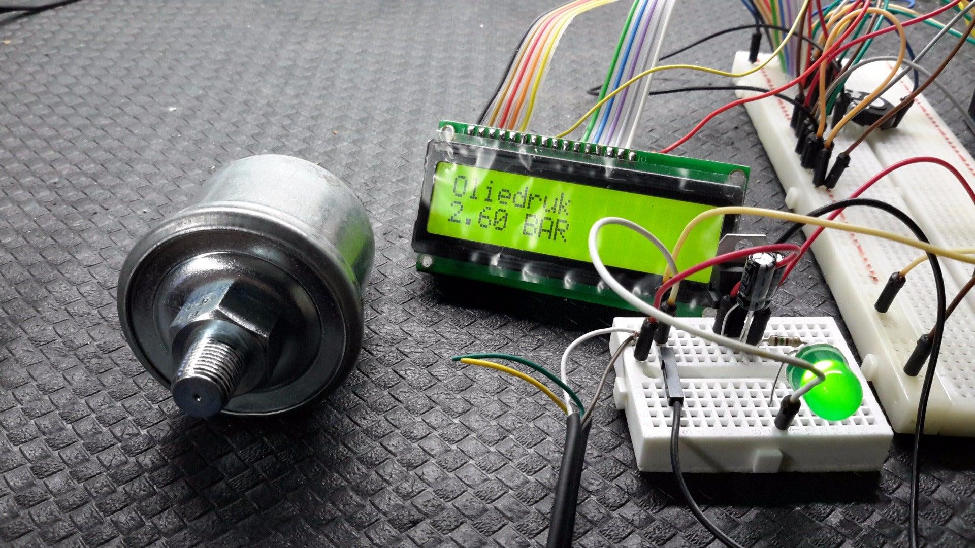 Vdo Oilpressure Sensor For Arduino 8 Steps Gauge Wiring Diagram Boat