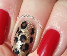 Trendy Nail- Animal Print Accent Nail