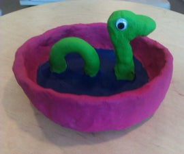 Clay Loch Ness Ashtray