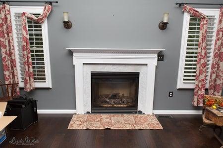 Barn Wood Fireplace Mantle