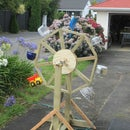 Free-standing Waterwheel with Upcycled Buckets