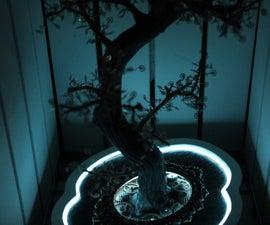 EL wire Steam Burton bonsai (steampunk)