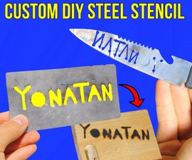 Custom DIY Metal Stencil: Engrave Your Name/Logo Without a Laser Engraver!