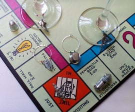 Monopoly Token Wine Glass Charms