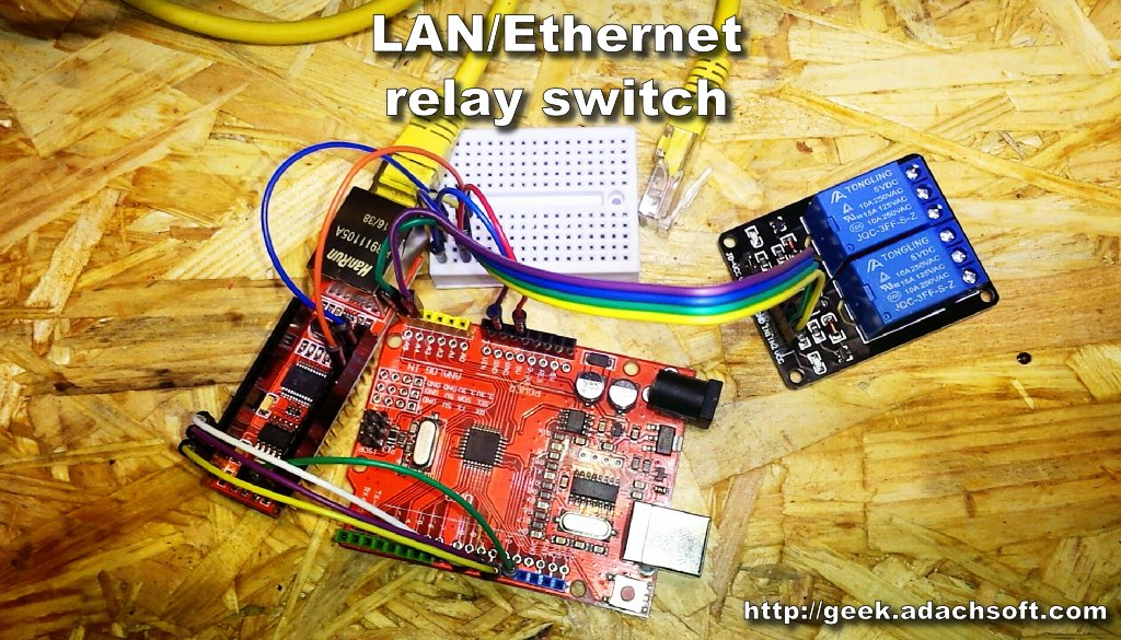 Picture of How to Make LAN/Ethernet Relay Switch Using Arduino UNO
