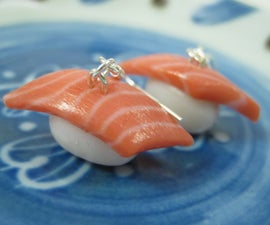 Salmon Sushi Earrings