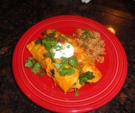 Chicken Enchiladas with Homemade Flour Tortillas