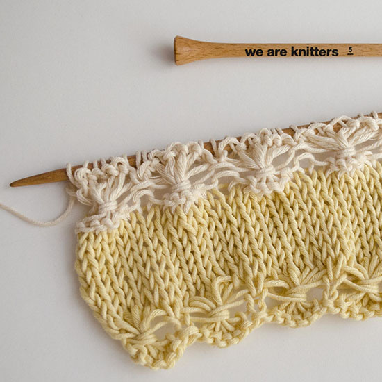 Picture of How to Knit a Line of Flowers