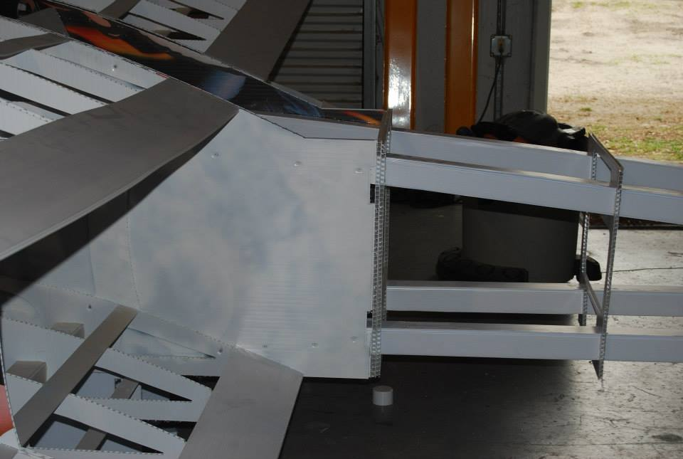 Picture of Full Size Airplane From Scrap Plastic, Hot Glue, and Washing Line.