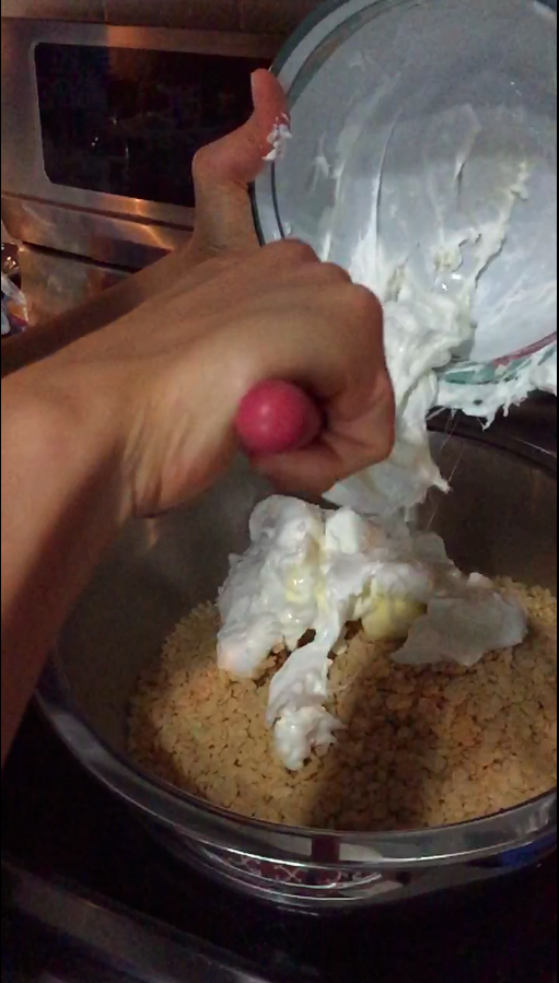 Picture of Mix in Melted Marshmallows and Butter