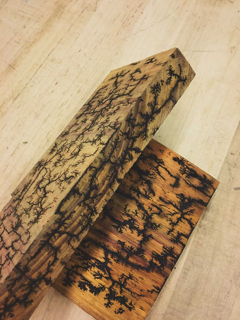 Wood Burning Lichtenberg Figures 6 Steps With Pictures