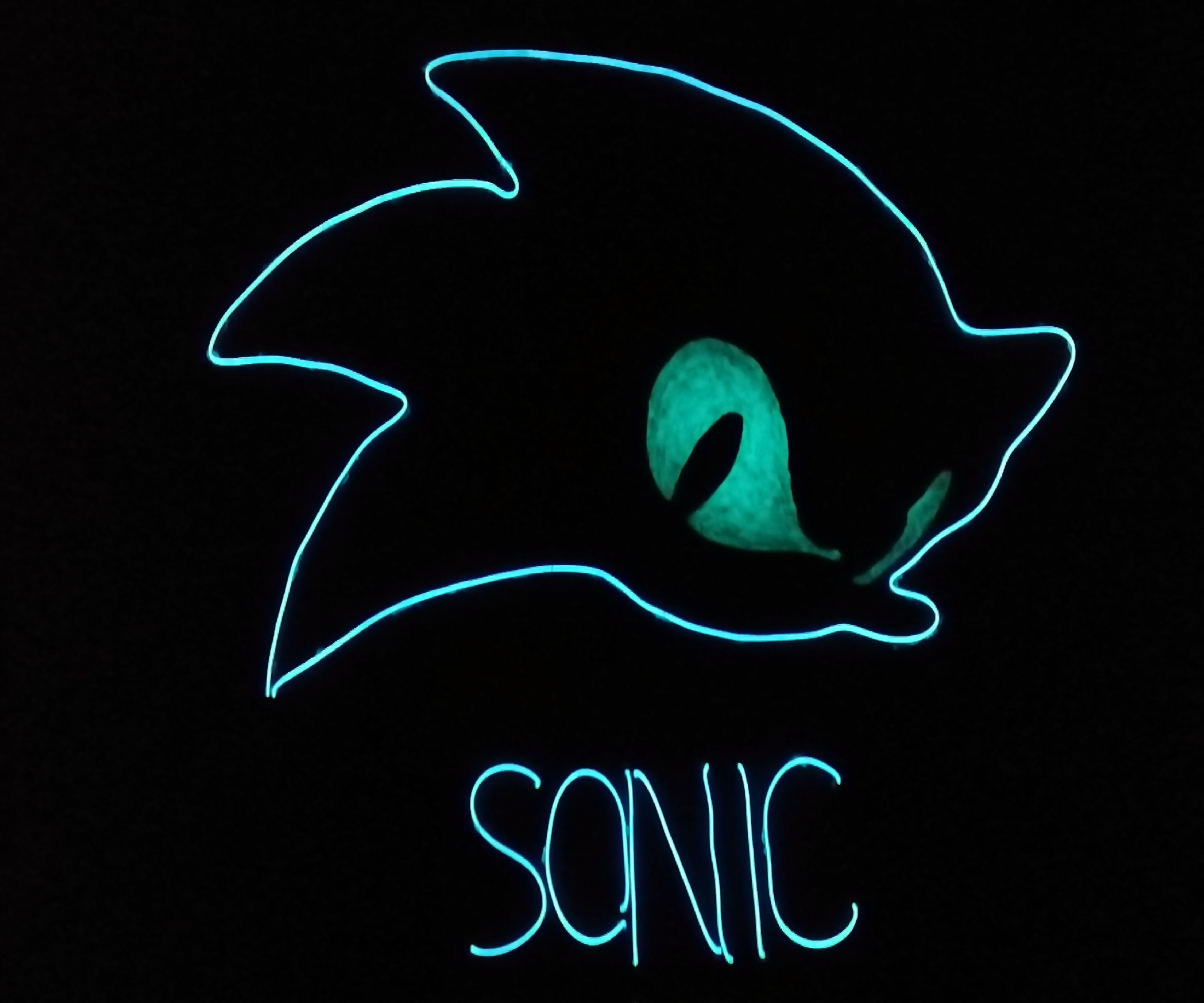 Sonic The Hedgehog Neon Sign 7 Steps Instructables
