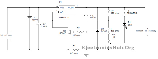 Picture of Design of Lead Acid Battery Charger Circuit