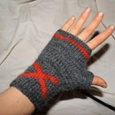 X marks the spot: Fingerless Gloves