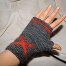 X marks the spot: Fingerless Gloves