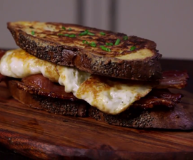 How to Cook a Savoury French Toast Breakfast Sandwich