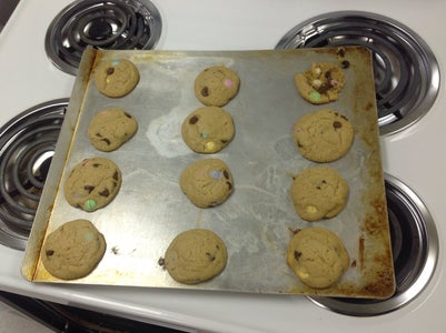 Peanut Butter Chocolate Chip M&M Cookies