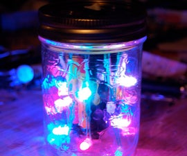 LED Disco Light in a Jar!