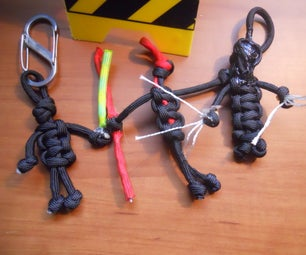 Paracord Jedi/Sith Key Fobs From Scraps