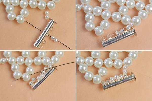 Picture of Add Some Pearl Beads to the 2 Sides of the Lock Clasp
