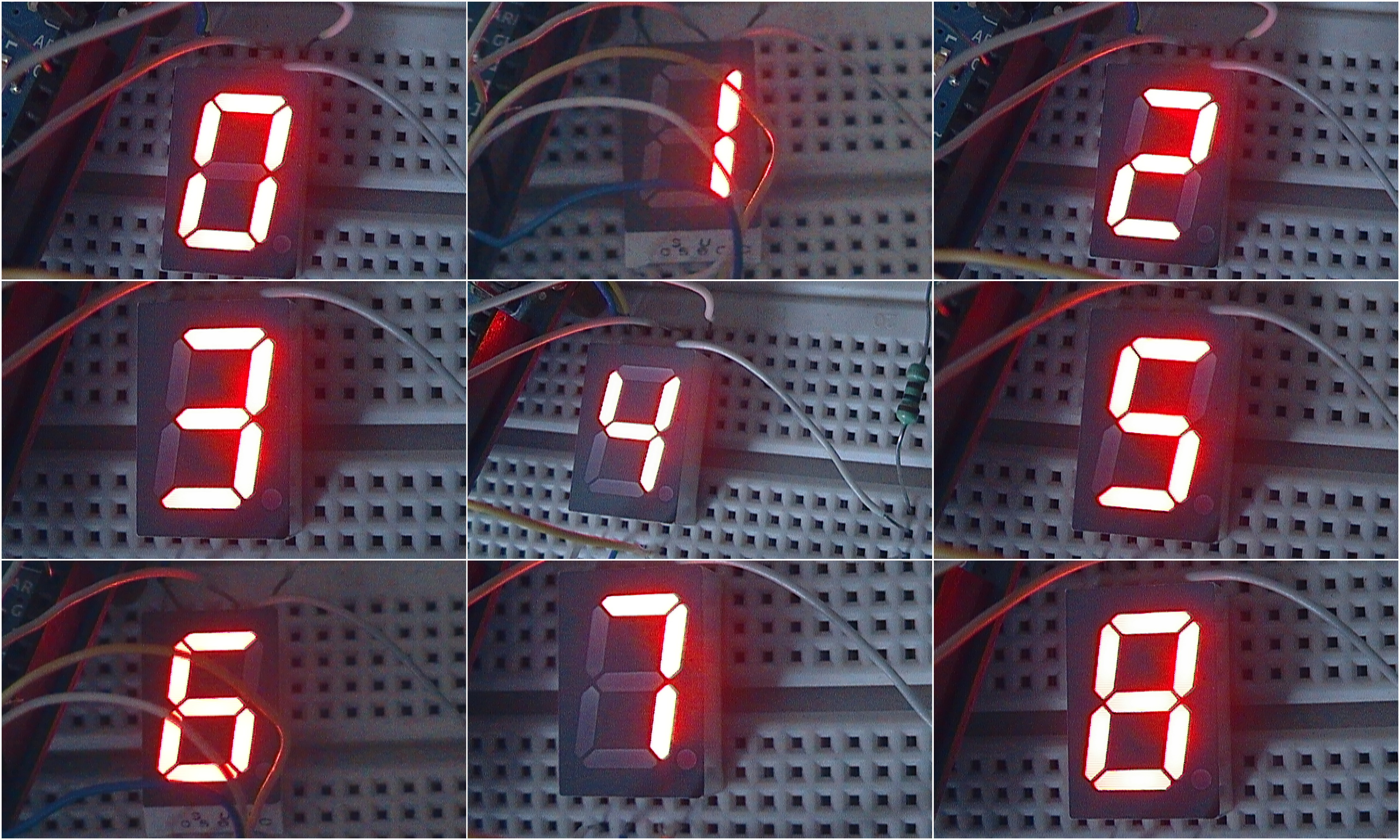 Picture of Project 1- One Digit Count Down Timer