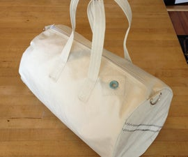 Recycled Sail Canvas Gym Bag