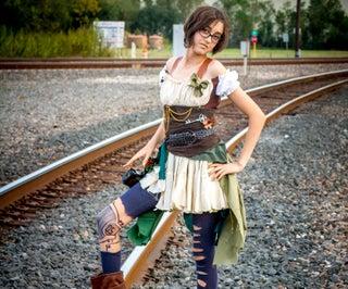 Steampunk Girl Robin Hood Style Costume