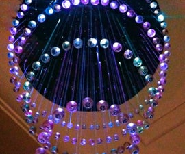 LED Fiber Optic Chandelier