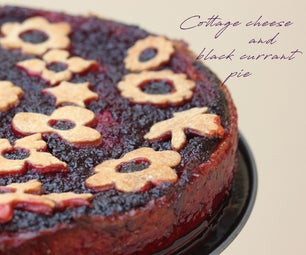 Cottage Cheese and Black Currant Pie