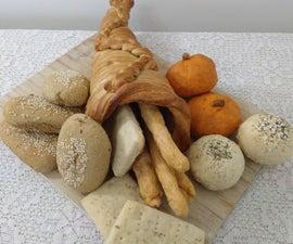 Thanksgiving (Vegan) Bread Platter in Cornucopia