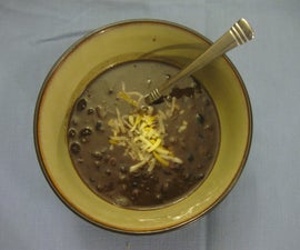 Black Bean Soup (Vegetarian)