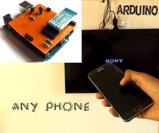 用任何手机控制电视(甚至没有红外线电话的电话)