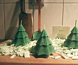 A DIY Christmas tree candle with a 3D printed mould!