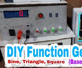 DIY Function Generator (ICL8038) 0 Hz - 400Khz