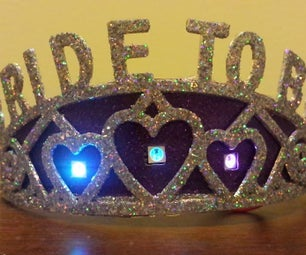 "Twinkling LED ""Bride-to-Be"" Bachelorette Tiara"