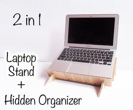 Laptop Stand with Hidden Organizer