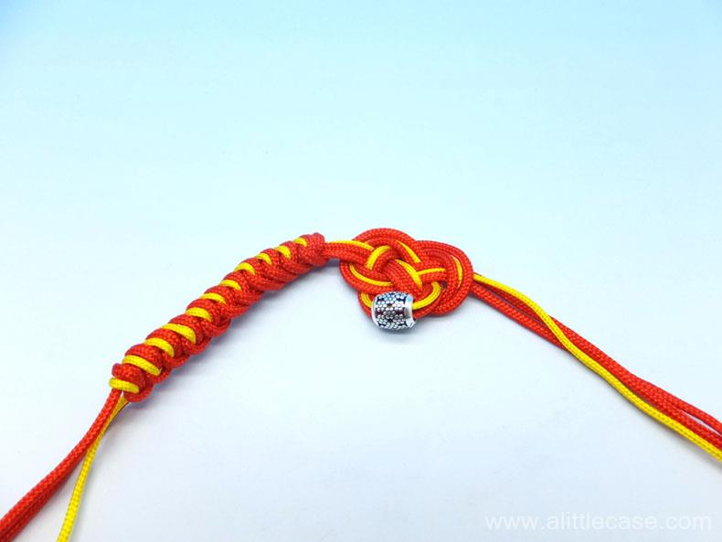 Picture of Stop Braiding When You Get the Length of Bracelet You Want.