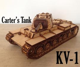 Carter's Lasercut Tank - KV-1 (motorizable)