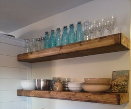 $20 Wood Floating Shelves