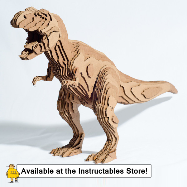 Picture of How to Slice Up a T-Rex in 123D Make