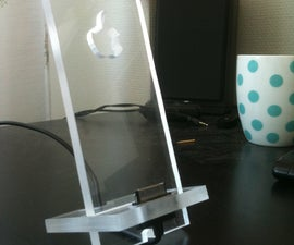 Simple Iphone stand from 8mm plexiglass