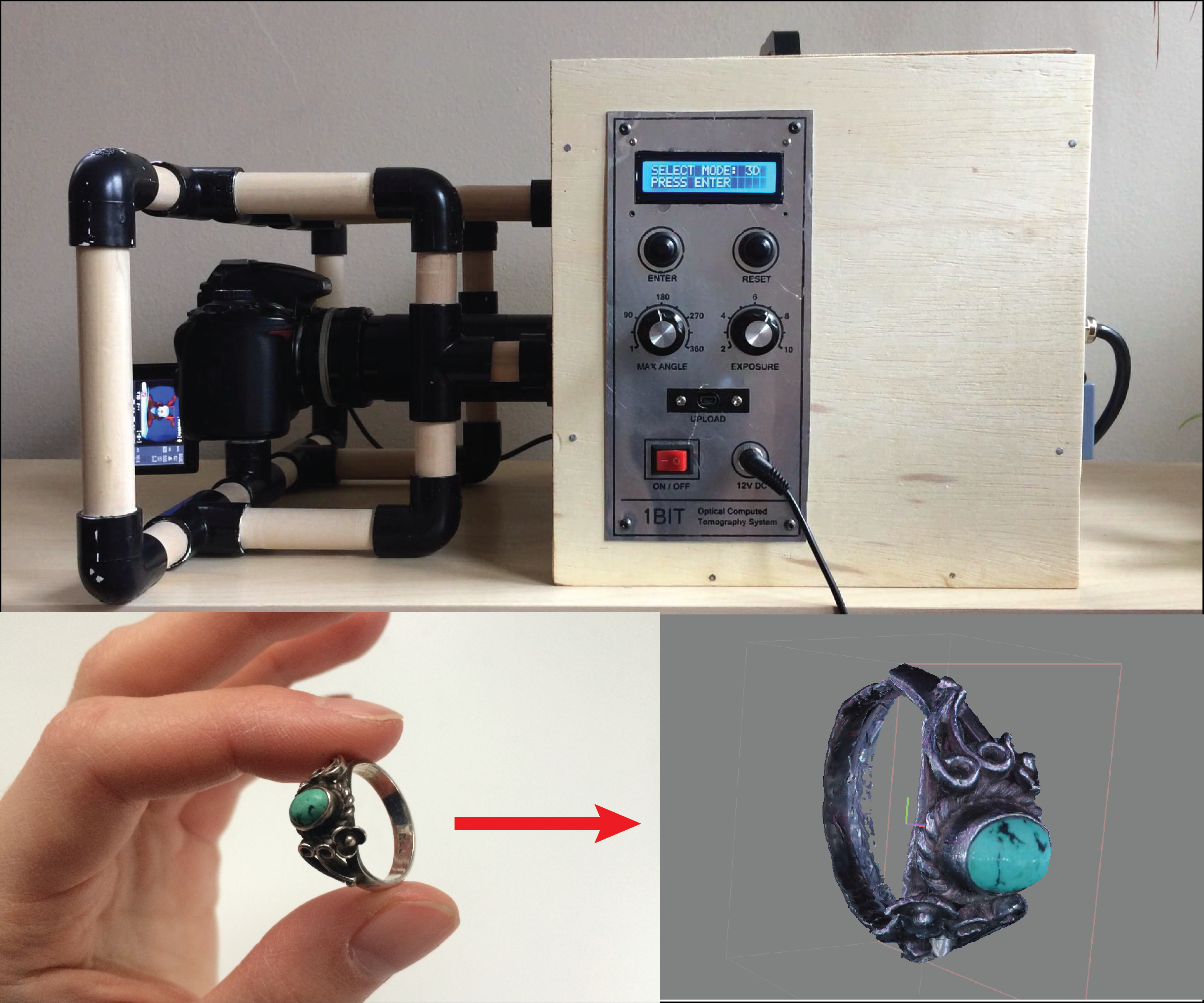 Picture of Desktop CT and 3D Scanner With Arduino
