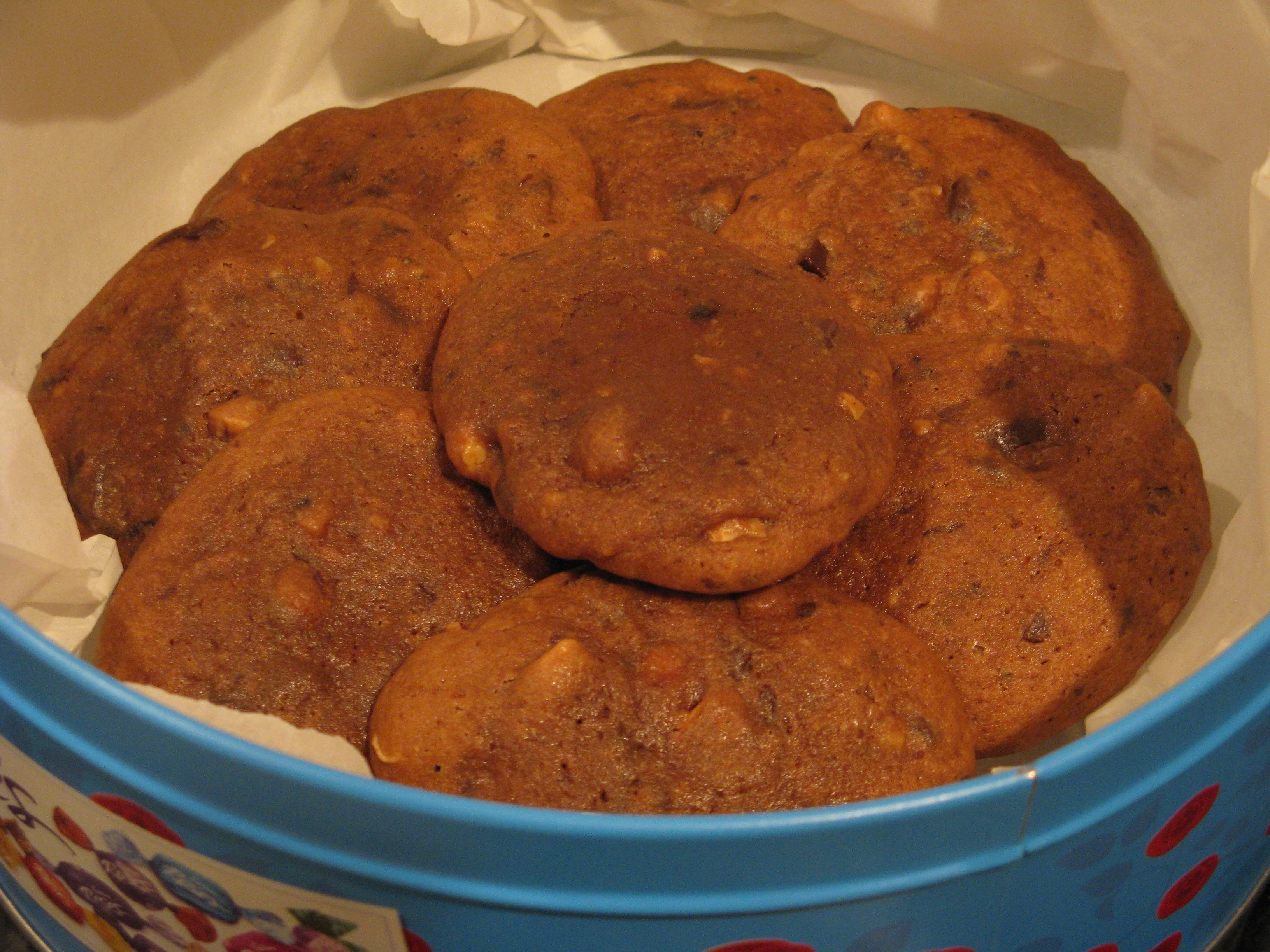 Picture of Coffee, Dark Chocolate and Walnut Cookies