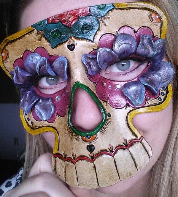 Leather Sugar Skull Mask