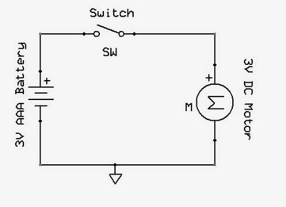 Schematic: Motor and Switch Connection